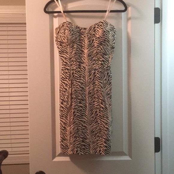 BCBGeneration Dresses & Skirts - BCBG Generation Light Pink Zebra Mini Dress